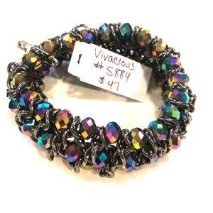 Premier Designs multicolor stretch bracelet